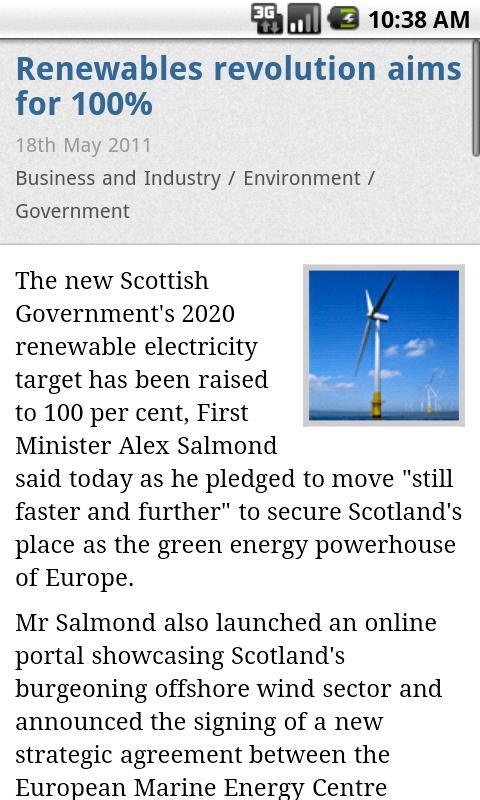 Scottish Government News- screenshot