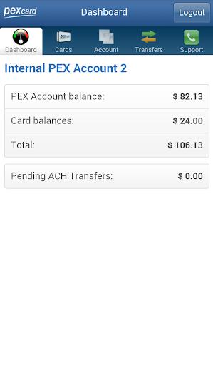 PEX Card - Admin