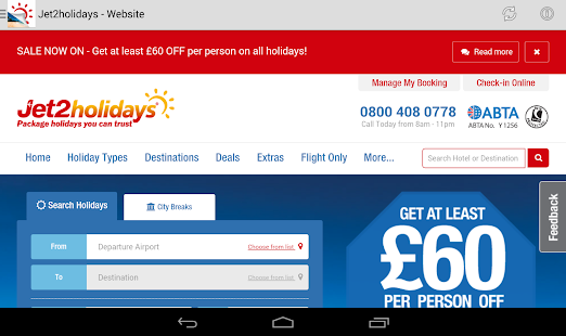 Jet2holidays Brochures- screenshot thumbnail