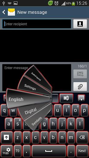 GO键盘黑色和红色