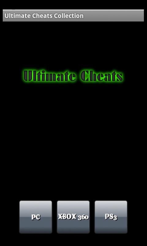 Ultimate Cheats Collection - screenshot