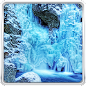 Frozen Waterfall Wallpaper icon