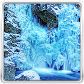Frozen Waterfall Wallpaper