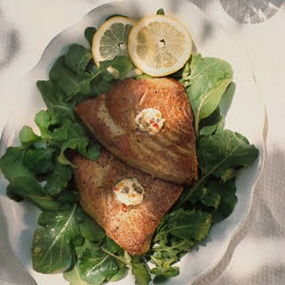 Seared Tuna Steaks with Caper Butter.