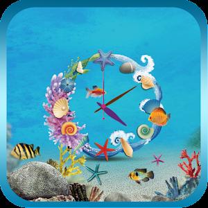 海底世界時鐘動態桌布(Free) 個人化 LOGO-玩APPs
