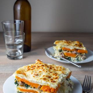 Butternut Squash & Sausage Lasagna