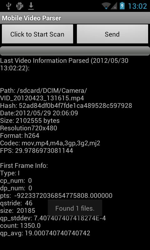 Mobile Video Parser- screenshot