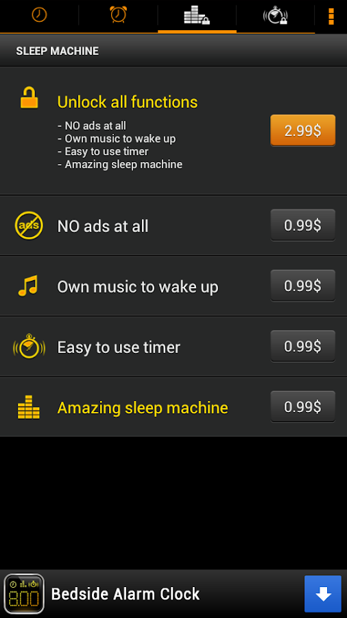 Bedside Alarm Clock Free - screenshot