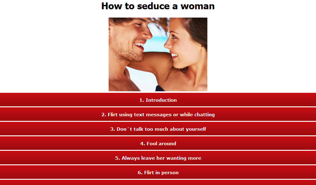 how to entice a woman