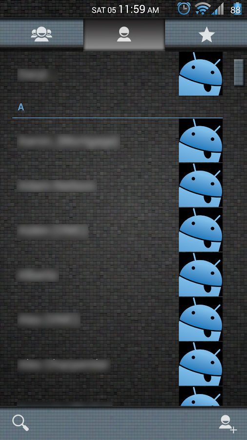 Mosaic Tile Blue CM11 Theme- screenshot