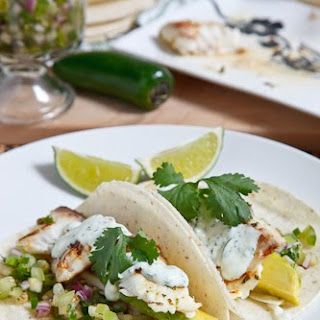Cilantro and Lime Fish Tacos.