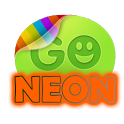 Orange Neon theme GO SMS Pro icon