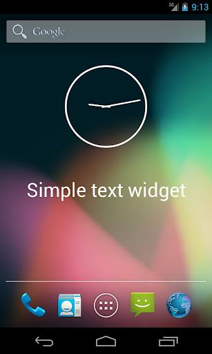 Simple Text Widget