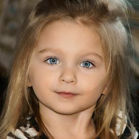 Sparkling Eyes by Luanne Bullard Everden - Babies & Children Child Portraits ( girls, family, granddaughter, children, portraits, toddlers, eyes,  )