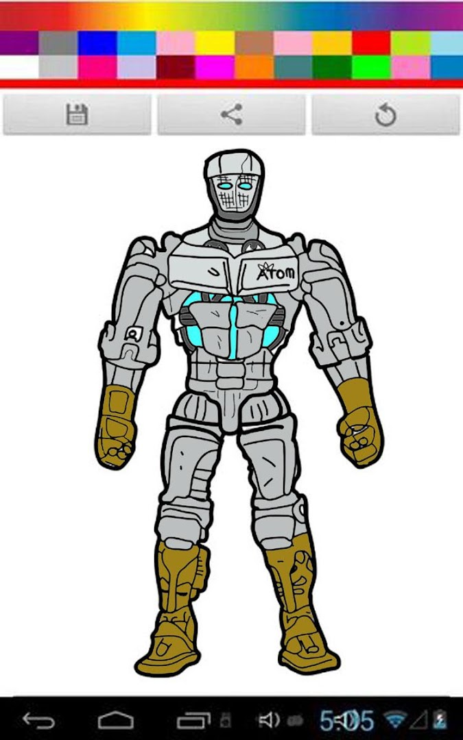 Real Coloring Robot Steel Kids