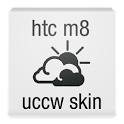 htc one m8 clock uccw skin icon