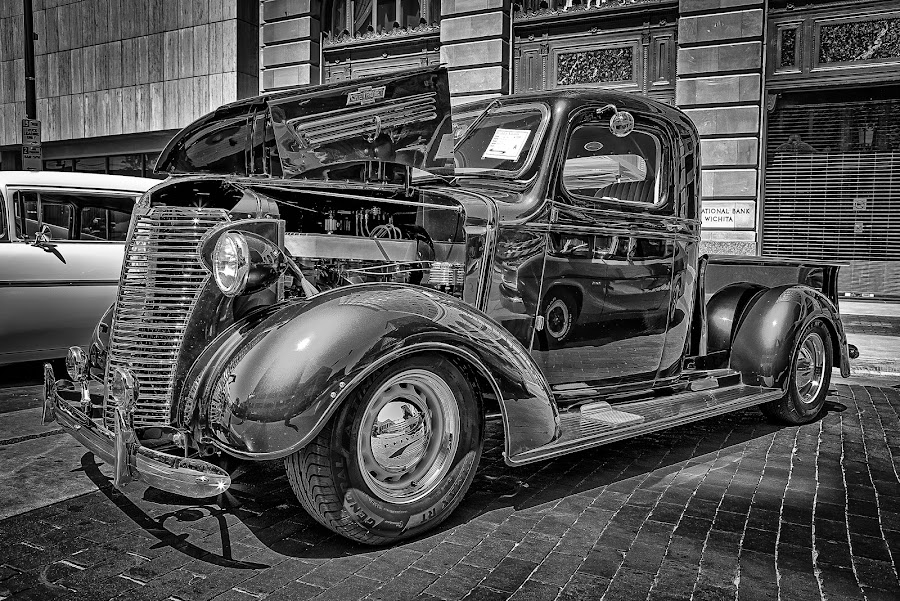 Chevy Truck by Ron Meyers - Black & White Objects & Still Life
