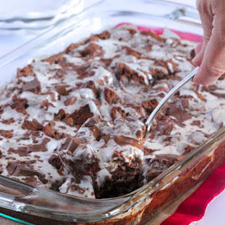 Gooey Chocolate Peppermint Bread Pudding.