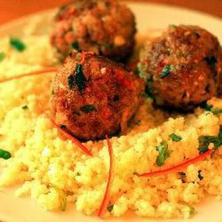 Pork, Coriander and Chilli Meatballs with Couscous Recipe