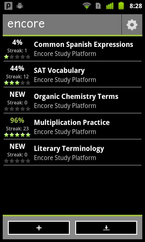 Encore Study Platform - screenshot