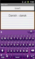 Screenshot of SlideIT Danish Pack