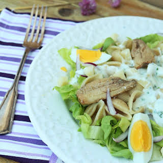 Pasta Shell Salad with Sardine Fillets.