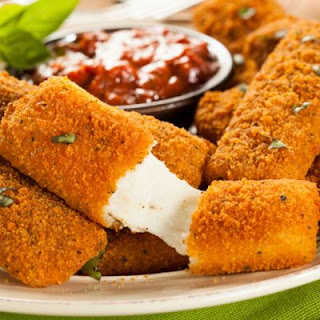 Easy Cheesy Mozzarella Sticks.