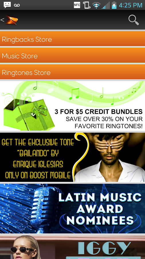 Boost Mobile Music Store- screenshot
