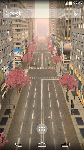 動態街景牆紙 - 櫻花
