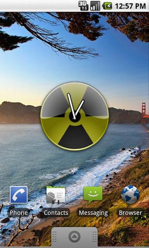 Radiactive Analog Clock Widget