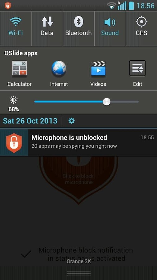 Mic Block - Voice spy security - screenshot