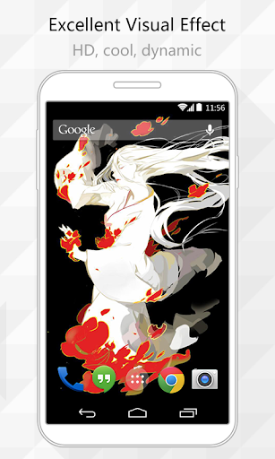 Fire Woman Live Wallpaper