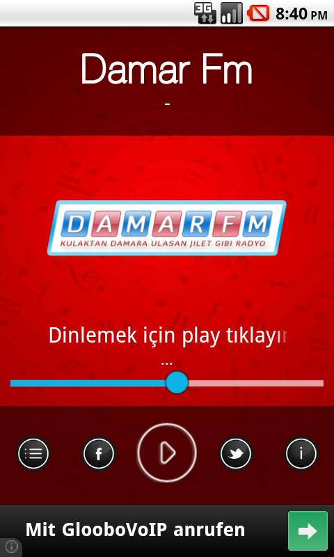 DamarFm Android Radyo - screenshot