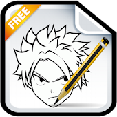 How to Draw Natsu Easy