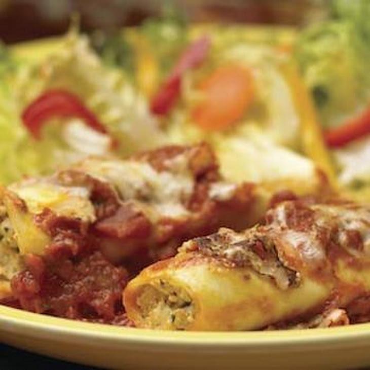 Cannelloni Stuffed with Mascarpone and Italian Sausage