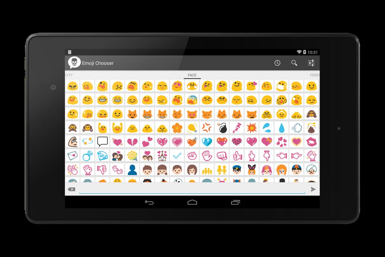 Chooser Android Emoji