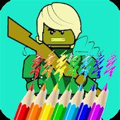 Ninja Coloring Book for Kids