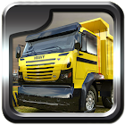 Heavy dump truck 3D parking icon
