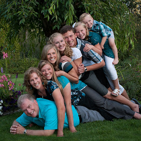 Family Stack by Craig Lybbert - People Family ( pose, family, piled, pile, fun, stack,  )