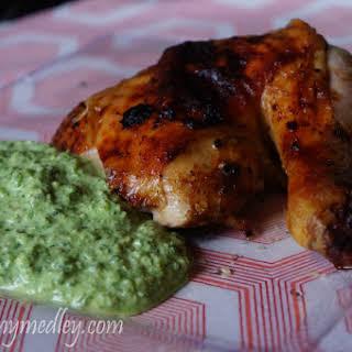 Green Sauce with Peruvian Chicken.