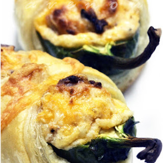 Jalapeno Poppers in Puff Pastry Blanket.