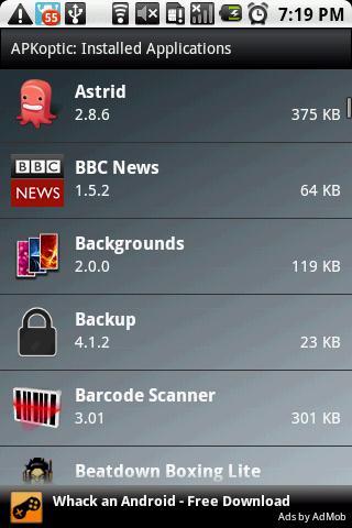APKoptic- screenshot