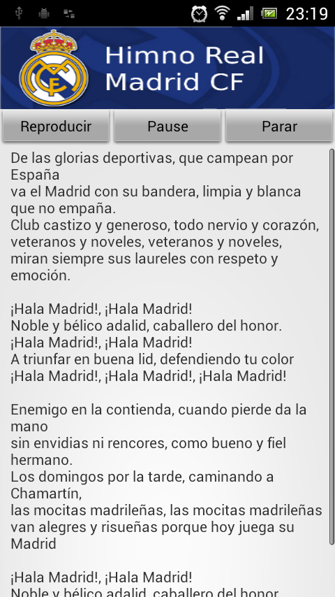 Himno Real Madrid Google Play Store Revenue Amp Download