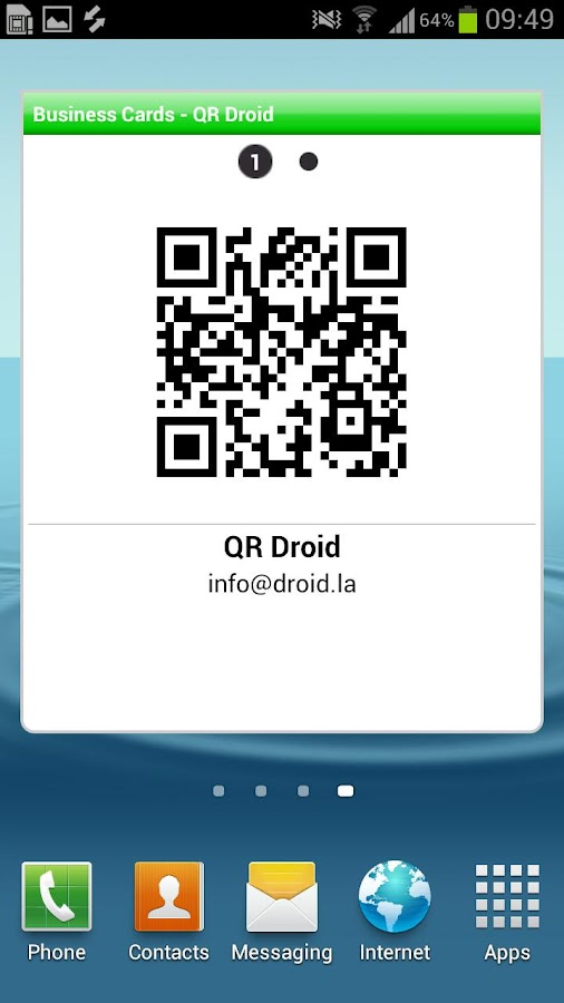 QR Droid Widgets™- screenshot