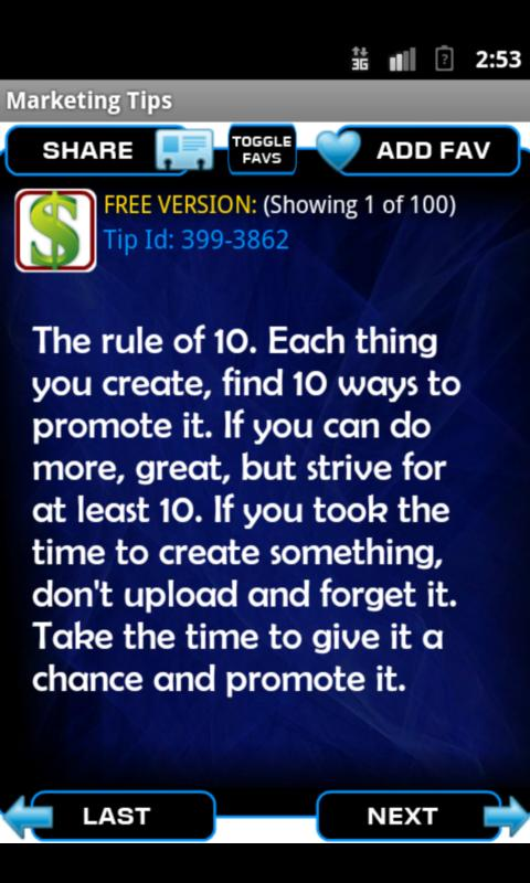 Internet Marketing Tips - screenshot