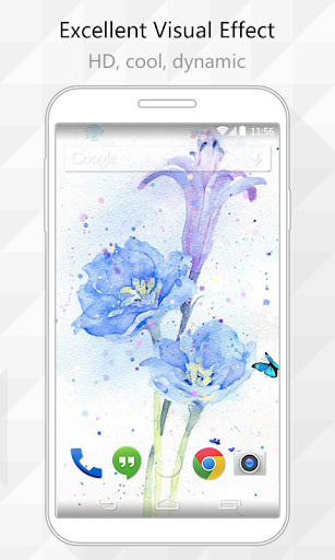 Painted Flowers Live Wallpaper