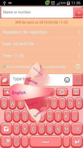 GO短信加强版桃红色 個人化 App-愛順發玩APP