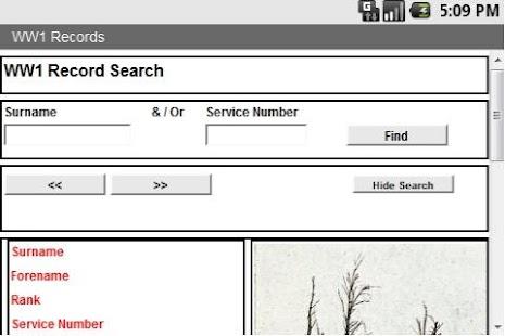 WW1 Search - screenshot thumbnail