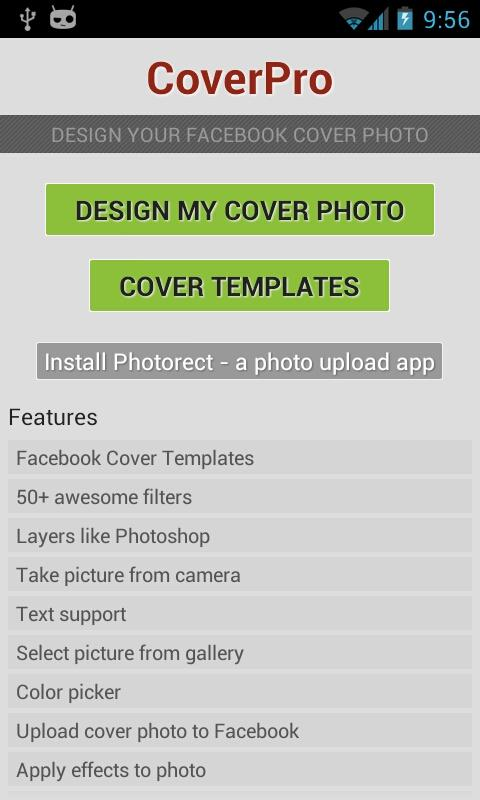 CoverPro design cover photo- screenshot
