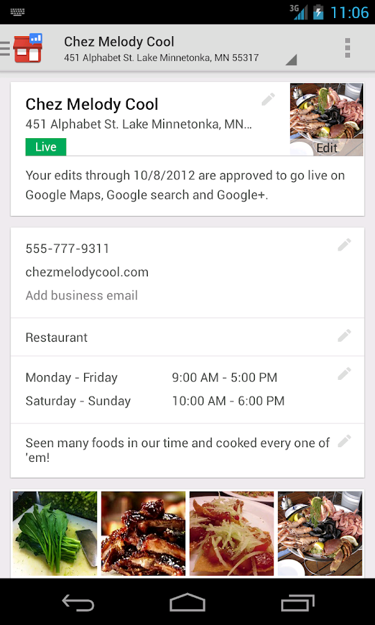 Google Places for Business - screenshot